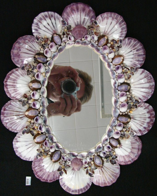 the shell store decorated mirrors 348 corey ave st - Decorated Mirror